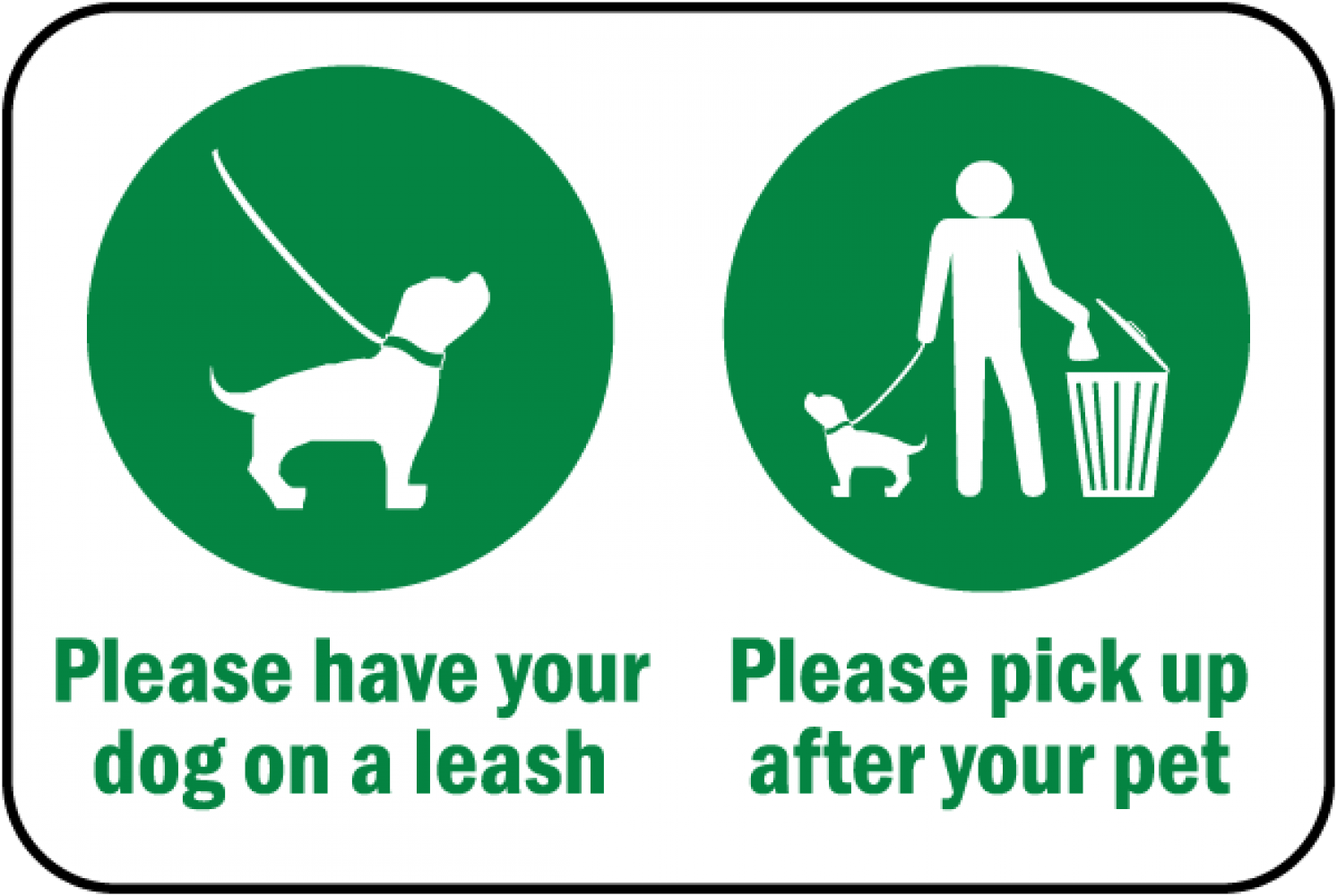 Please Pick-Up after your Pets