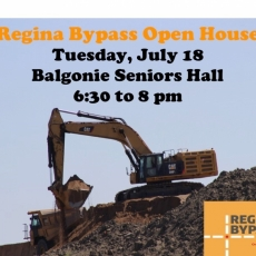 Regina Bypass Open House - July 18
