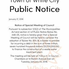 Town of White City Public Notice