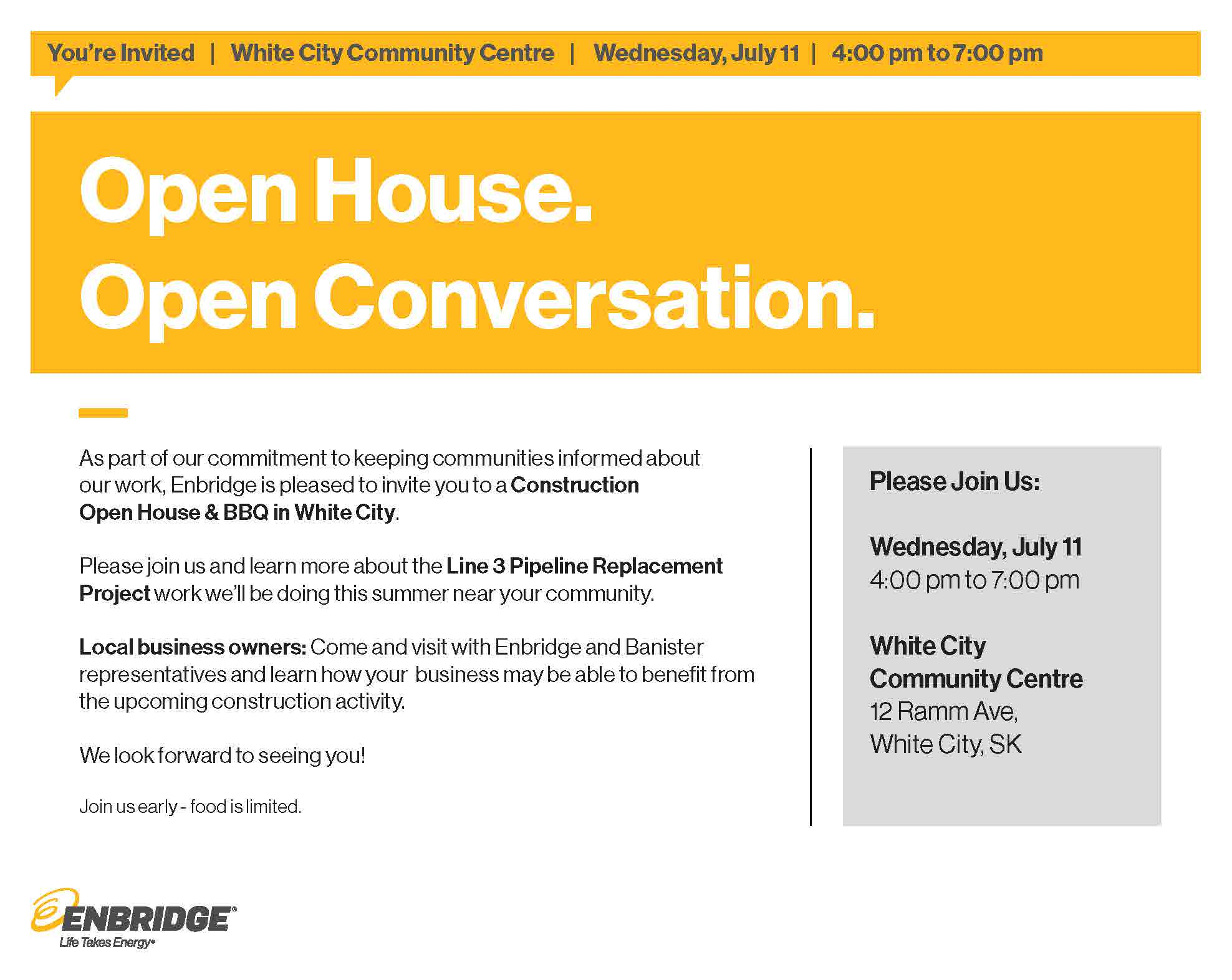 Enbridge Construction Open House & BBQ