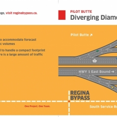 Diverging Diamond Interchange at Pilot Butte Now Open