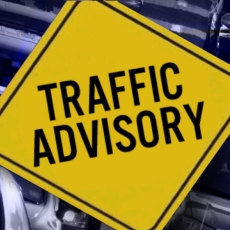 Traffic Advisory - Pilot Butte Overpass