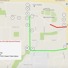 Regina Bypass Construction Update - Gregory Avenue Detour