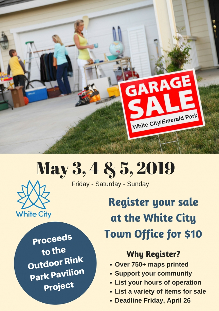 Don't Forget! Register your Garage Sale Today