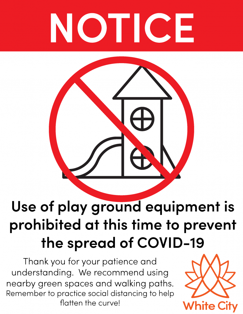 Effective Immediately - Municipal Play Grounds Closed