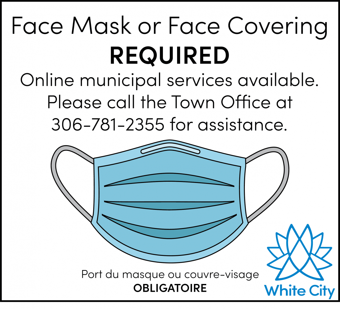 Face Masks or Face Coverings now Required in White City