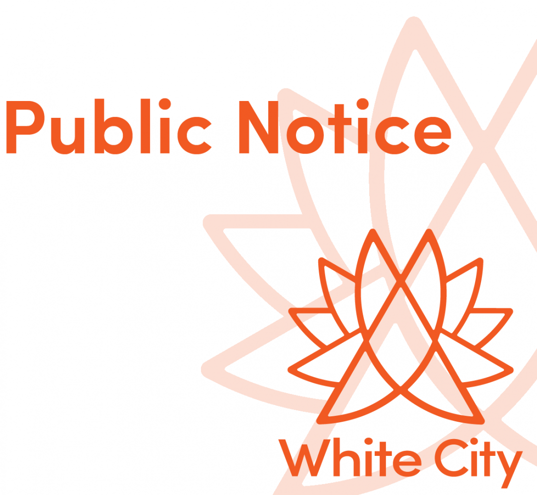 Public Notice - First Meeting of 2020-2024 White City Town Council