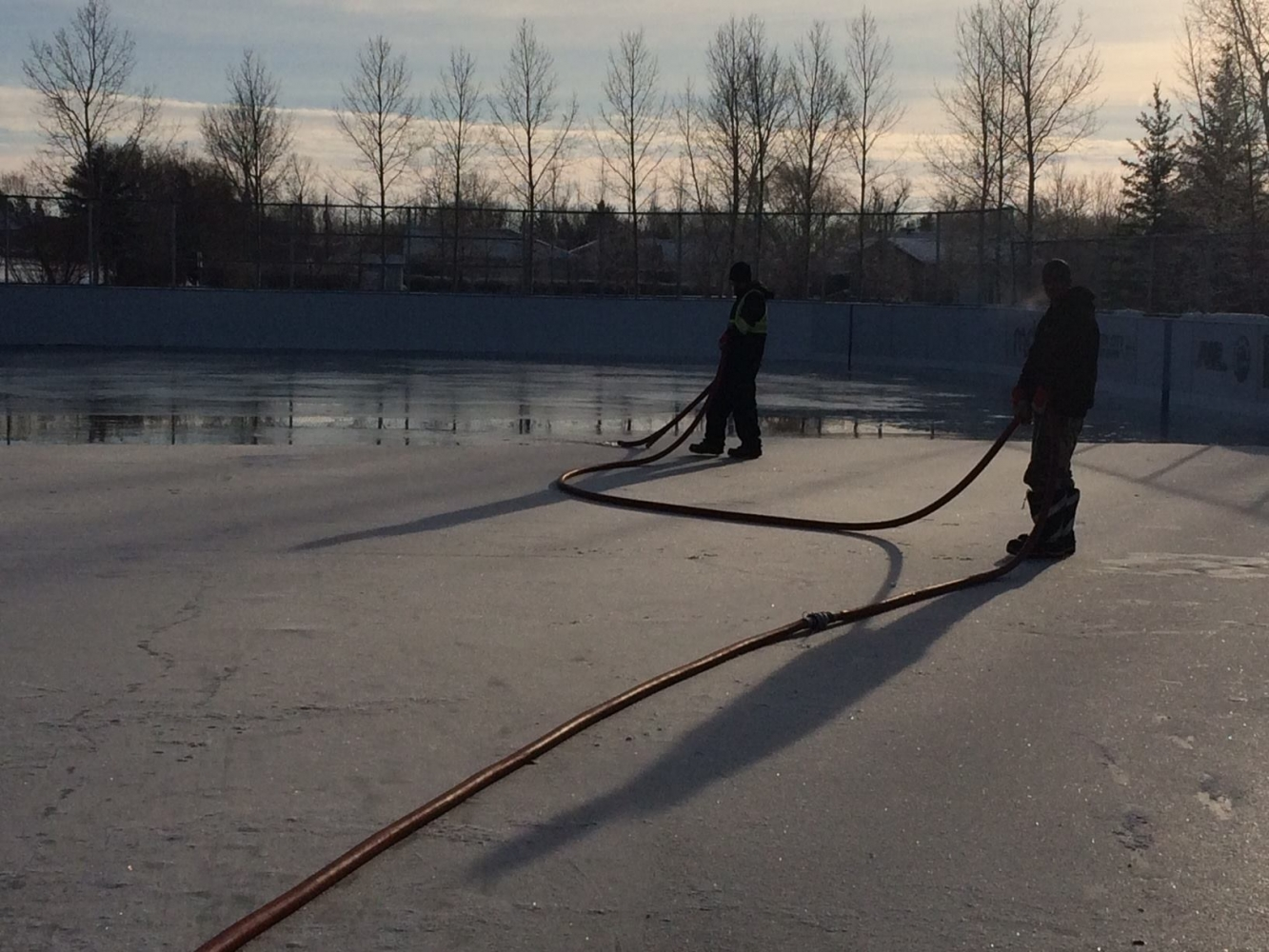 White City Outdoor Rink Flooding