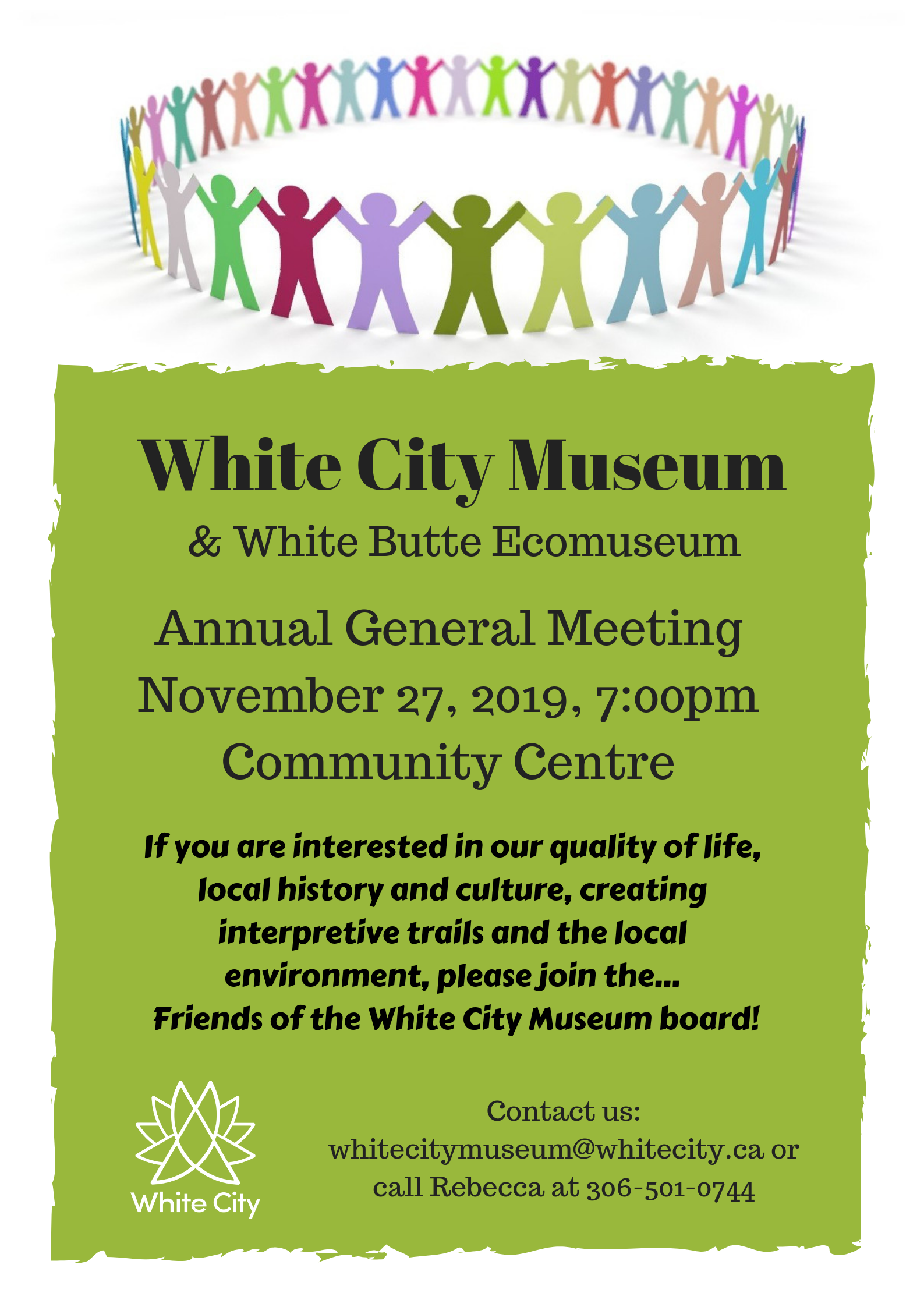 AGM for the White City Museum & White Butte Ecomuseum