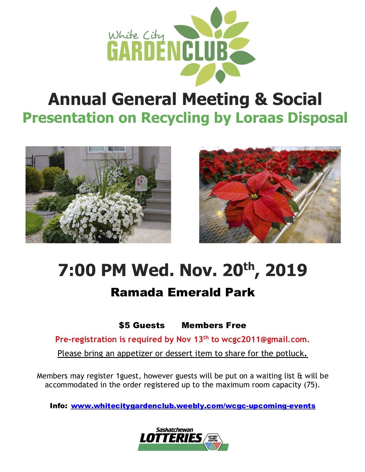 AGM & Social for the White City Garden Club