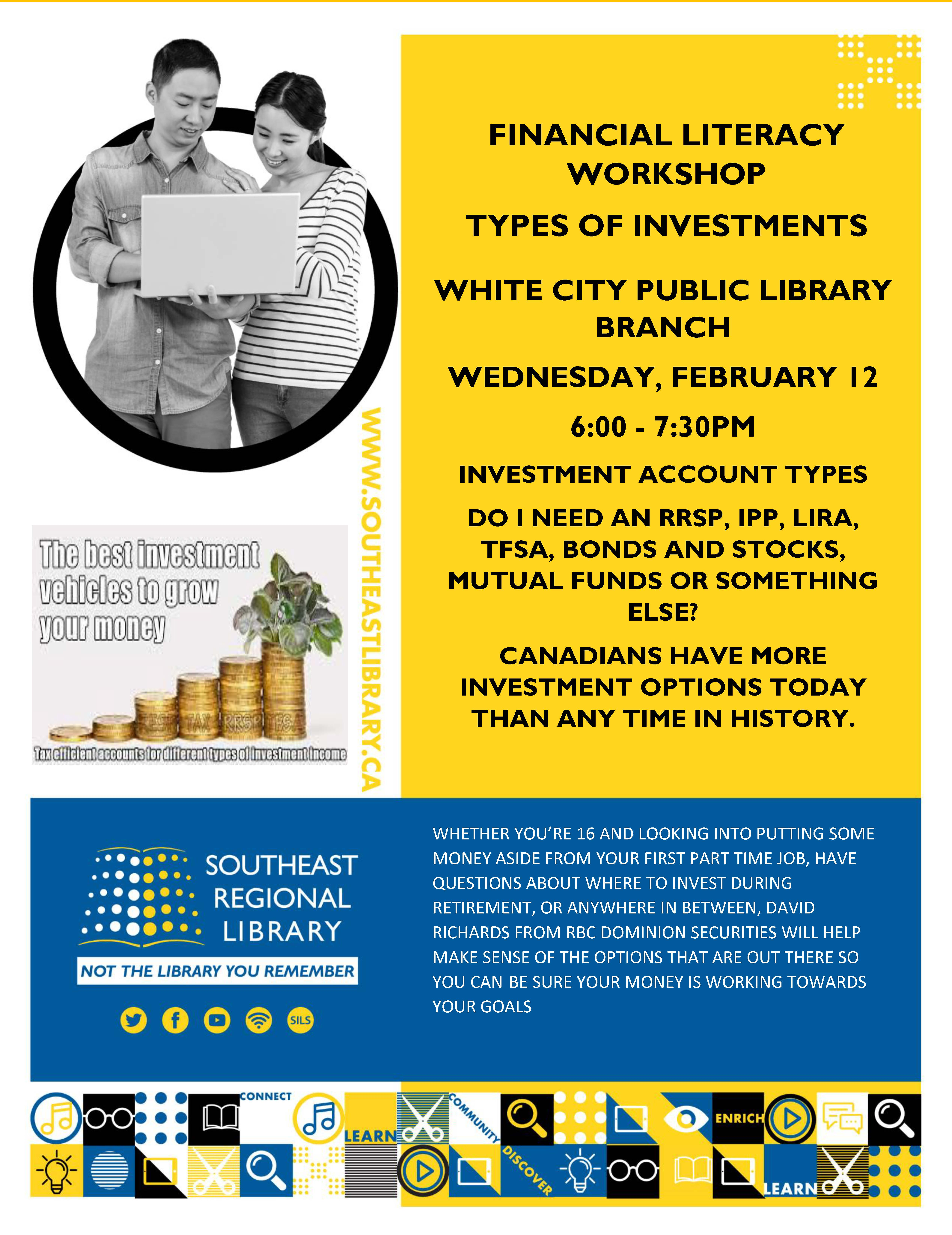 Financial Literacy Workshop - Types of Investments