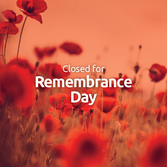 Library: Closed for Remembrance Day