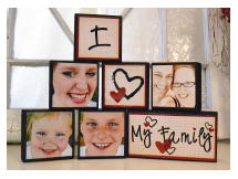 Library: Family Photo Blocks