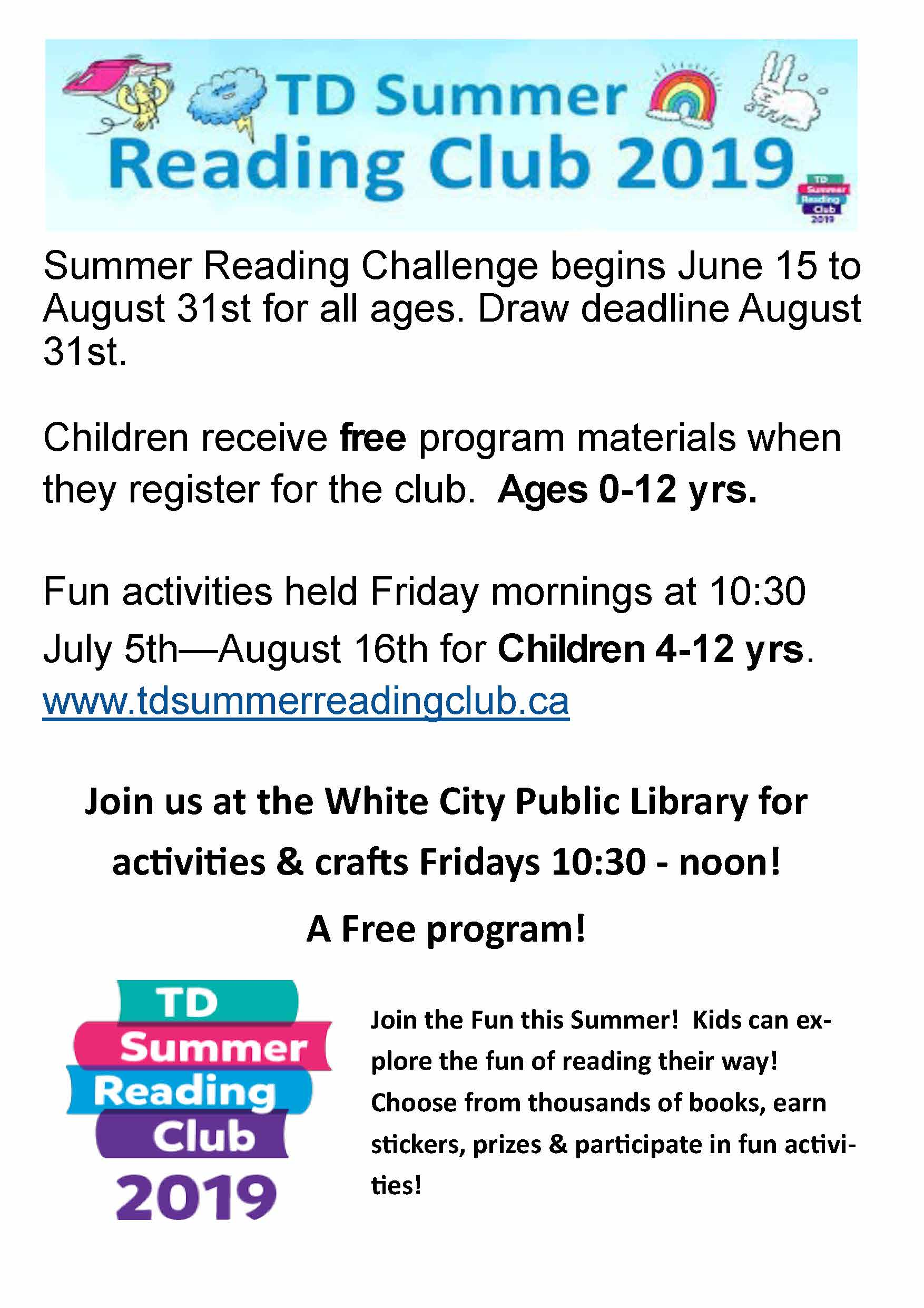 2019-07-19 Library: Summer Reading Club