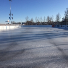 Double K Outdoor Rink - Ice Surface