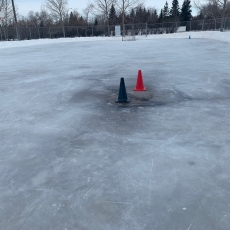 Use Caution on Outdoor Rinks