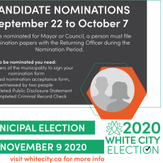 2020 White City Election - Nominations for Mayor and Council Now Open