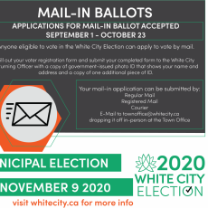 2020 White City Election - Mail-In Ballot Applications Now Open