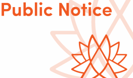 Public Notice: Special Council Meeting