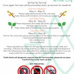 Spring Clean-Up Dates
