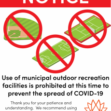 Effective Immediately - Municipal Outdoor Recreation Facilities Closed